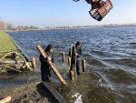 Denzo renoveert water te laat plaats Meer van Dirkshorn. Opdrachtgever Gemeente Schagen.