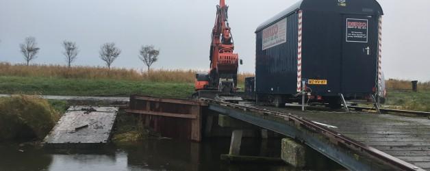 Renovatie brugvleugels te Schermerhorn. Opdrachtgever Staatsbosbeheer.