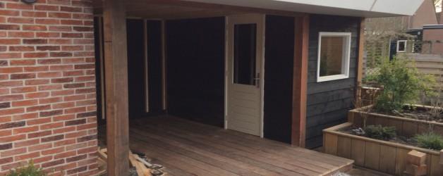 Denzo bouwt veranda met berging te Anna Paulowna.