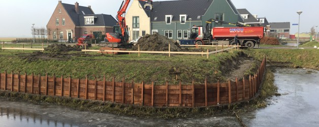 Denzo bouwt grondkeringen te Sijbekarspel.