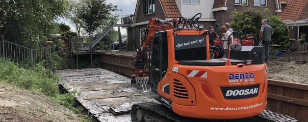 Hardhouten damwanden geplaatst te Alkmaar